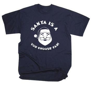 Custom Football Team Christmas Santa Is Fan T-Shirt