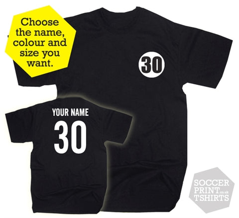 30th Birthday Name & Number Gift Present Thirty T-Shirt
