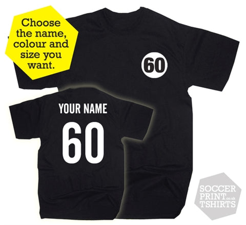 60th Birthday Name & Number Sixty Gift Present T-Shirt
