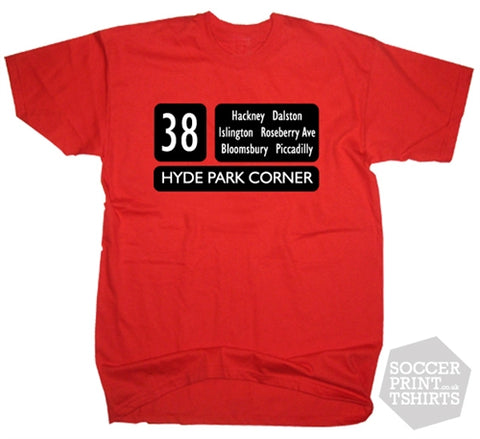 London Red Bus Routemaster 38 T-Shirt