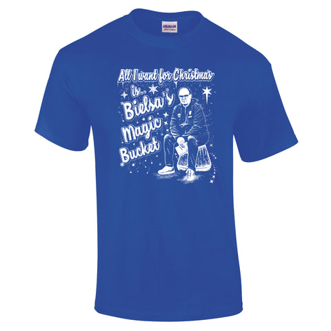 Bielsa Magic Bucket Leeds Christmas T-Shirt