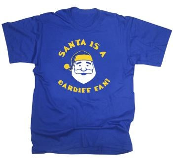 Cardiff City Christmas Santa T-Shirt