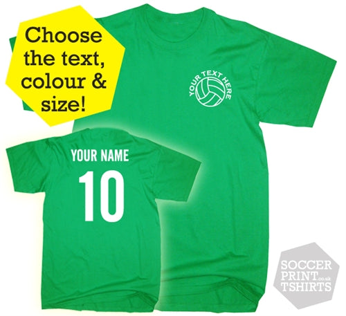 Personalised Football T-Shirt in Children's & Adult Sizes
