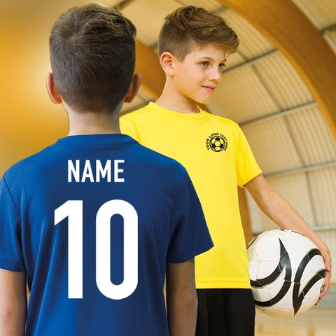 Custom Name & Number Football Sports Fabric Shirt