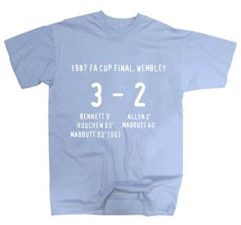 Coventry City 1987 FA Cup Final Score T-Shirt