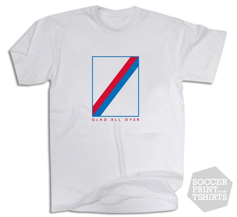 Crystal Palace Glad All Over Retro Football Shirt T-Shirt