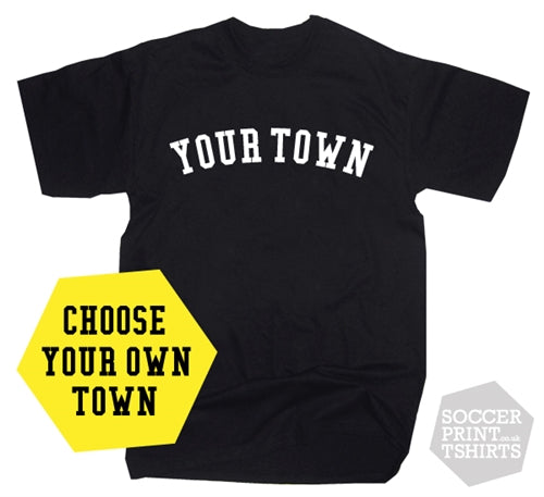 Custom Town US College Style T-shirt