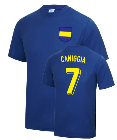 Claudio Caniggia Boca Juniors Number 7 Legend T-Shirt