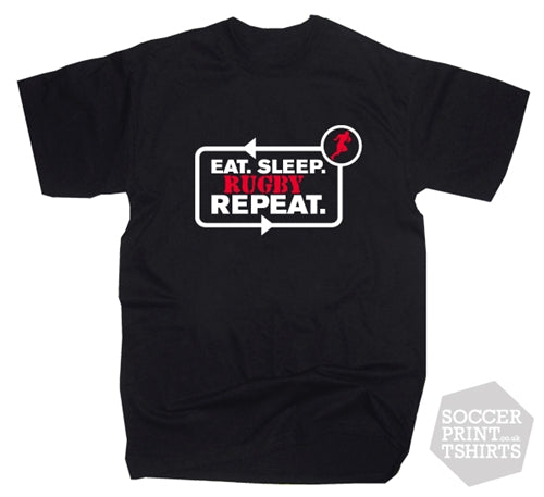 Funny Eat Sleep Rugby Repeat T-Shirt