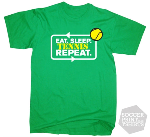 Funny Eat Sleep Tennis Repeat T-Shirt