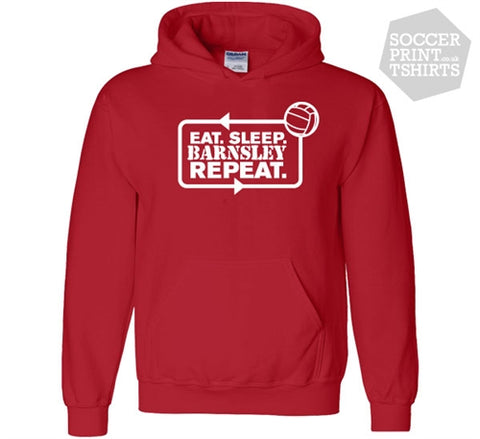 Funny Eat Sleep Barnsley Repeat Football Hoody