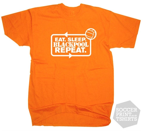Eat Sleep Blackpool Repeat Football T-Shirt