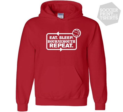 Funny Eat Sleep Bournemouth Repeat Football Hoody