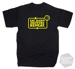 Eat Sleep Brewers Repeat Burton Albion Football T-Shirt