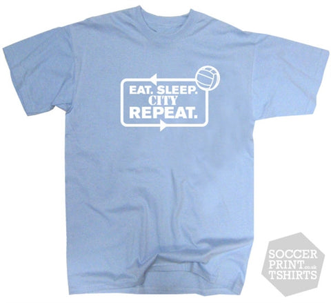 Eat Sleep Coventry City Repeat Football T-Shirt