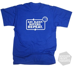 Eat Sleep Bristol Rovers Repeat Football T-Shirt