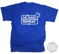Funny Eat Sleep Hartlepool United Repeat Football T-Shirt
