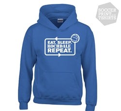 Funny Eat Sleep Rochdale Repeat Football Hoody