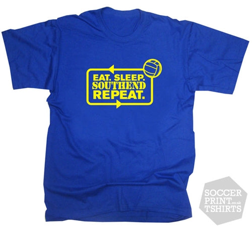 Eat Sleep Saints Repeat Southend Football T-Shirt