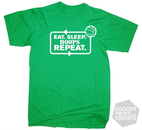 Eat Sleep Hoops Repeat Celtic Football T-Shirt