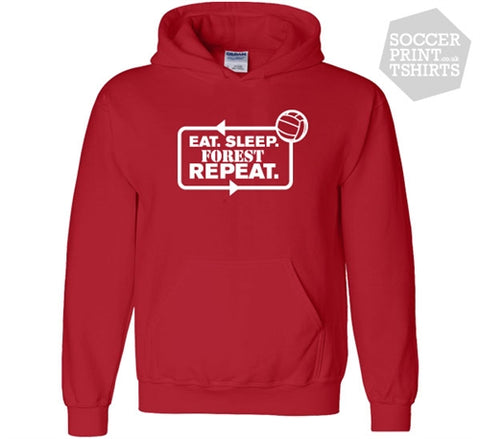 Funny Eat Sleep Forest Repeat Nottingham Forest Football Hoody
