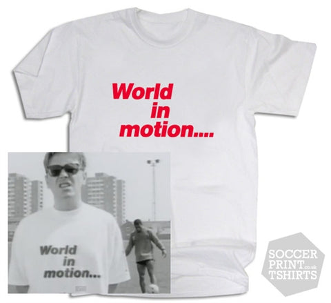 England World Cup Football Italia 1990 World in Motion T-Shirt
