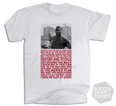 John Barnes Pass & Move Rap England World in Motion T-Shirt