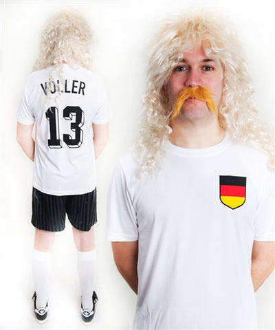 Rudi Voller Germany Football Fancy Dress Costume