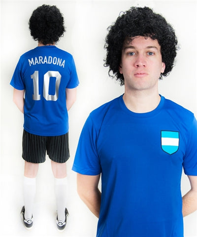 Diego Maradona Argentina Football Fancy Dress Costume