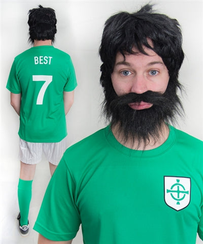 George Best Northern Ireland Football Fancy Dress Costume