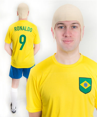 Ronaldo Brazil World Cup Football Fancy Dress Costume