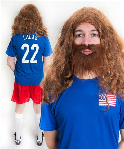 Alexi Lalas USA World Cup Football Fancy Dress Costume