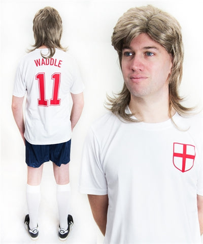 Chris Waddle England Football Fancy Dress Costume
