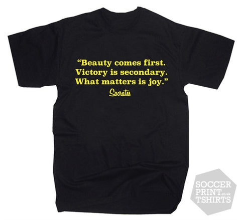 Sócrates Brazil Football Quote T-Shirt