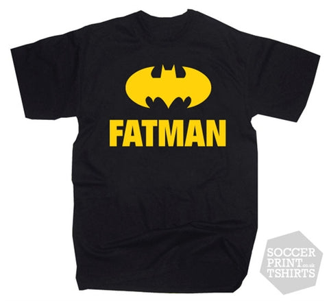 Funny Fatman Superhero T-Shirt