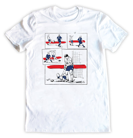 Paul 'Gazza' Gascoigne Euro '96 Scotland Goal Illustration T-Shirt