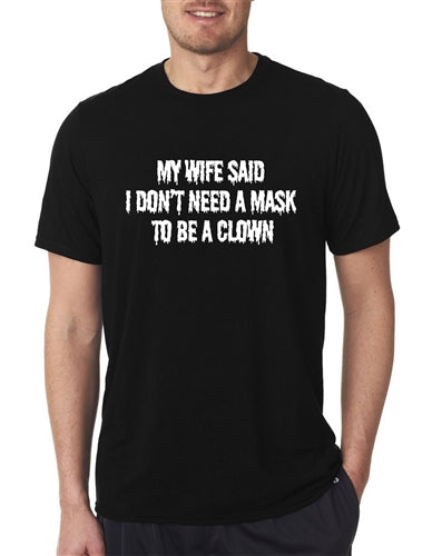 Halloween Funny My Wife Clown T-Shirt