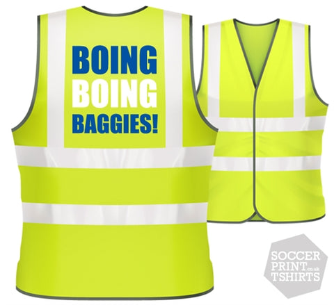 West Brom Boing Boing football Hi Vis Work Vest