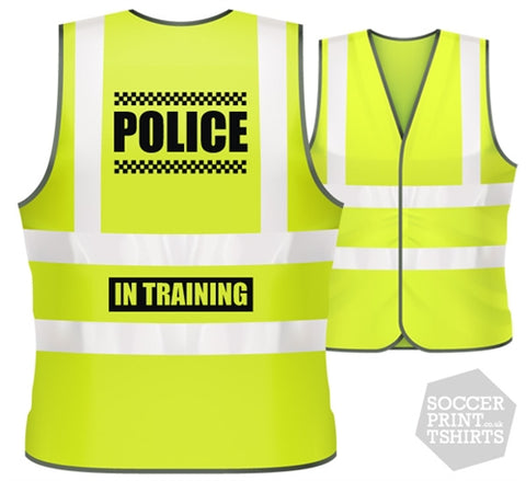 Children's Funny Police Fancy Dress Hi Vis Work Vest