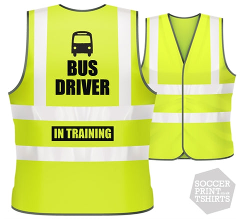 Children's Funny Bus Driver in Training Hi Vis Work Vest
