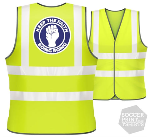 West Brom Keep the Faith football Hi Vis Work Vest