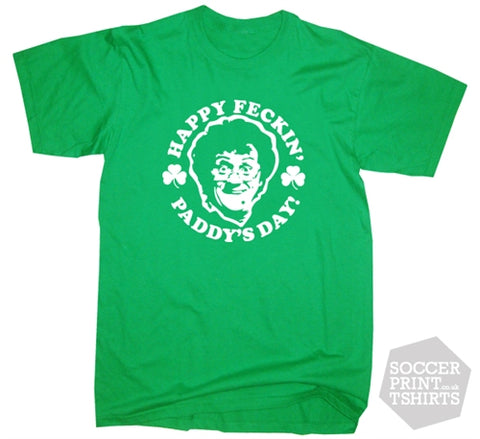 Funny Mrs Brown's Boys St Patrick's Day Feckin Paddys T-Shirt