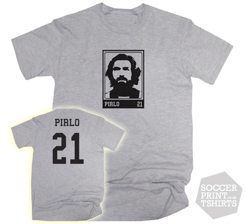 Andrea Pirlo Juventus Name and Number 21 T-Shirt