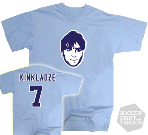 Georgi Kinkladze Manchester City Legend Number 7 Face T-Shirt