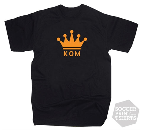 King Of The Mountain KOM Crown Kudos Strava Cycling GPS Trail Fitness T-Shirt