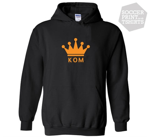 King Of The Mountain KOM Crown Kudos Strava Cycling GPS Trail Fitness Hoodie