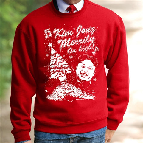 Funny Kim Jong Merrily On High Christmas Jumper
