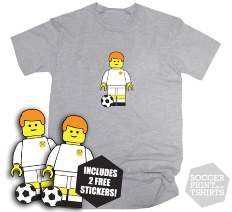 Leeds United Billy Bremner Retro Toy Figure T-Shirt