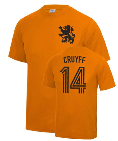Johan Cruyff Number 14 Holland Legend T-Shirt