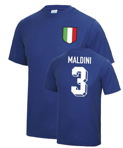 Paolo Maldini Number 3 Italy Legend T-Shirt